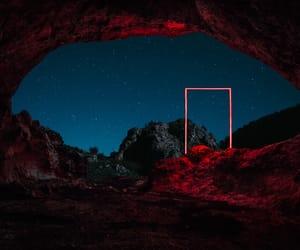 red, dark, and night image