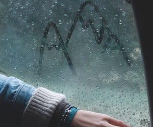 rain, mountains, and travel image