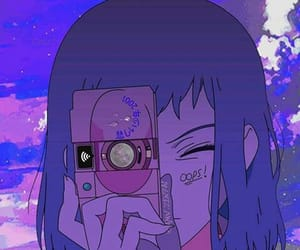 anime, aesthetic, and purple image