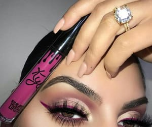 eyes, lipstick, and rings image