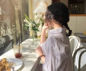 ulzzang, aesthetic, and cafe image