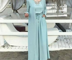 dressy pants and pastel mint outfit image