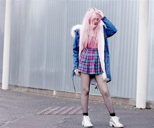 black, outfit, and pink image