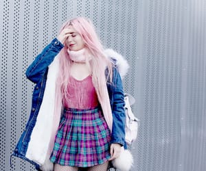 cold, hair, and skirt image