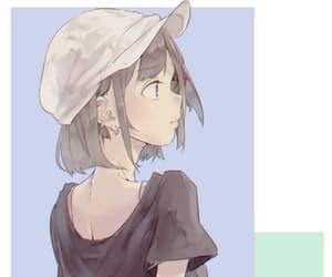 anime, anime girl, and pale image
