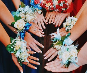 corsage, pretty, and Prom image