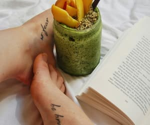 book, food, and words image
