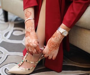 arab, heels, and henna image