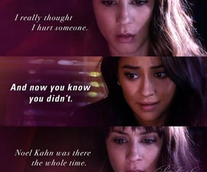 hurt, shay mitchell, and spencer hastings image