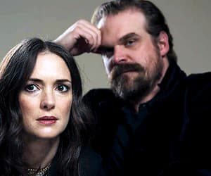 winona ryder and david harbour image