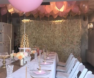 pink, feest, and babyshower image