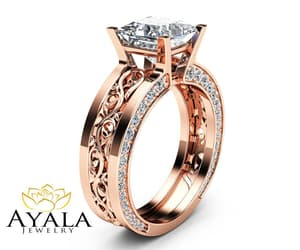 jewelry, wedding, and floralrings image