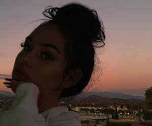 girl, maggie lindemann, and sunset image
