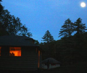cabin, camp, and summer image