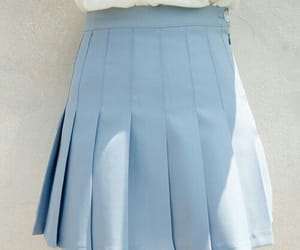 blue, aesthetic, and skirt image