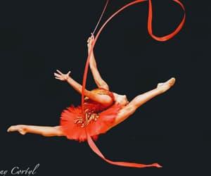 rhythmic gymnastics, ribbon, and rhytmic gymnastic image