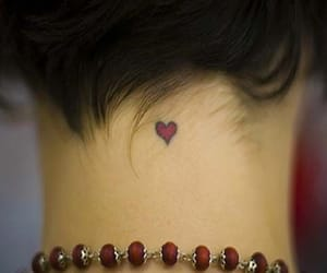 heart, tattoo, and back neck tattoo image