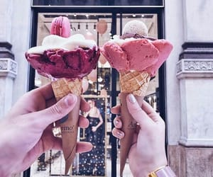 girly, ice cream, and roses image