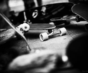 black, longboard, and skateboard image