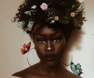 fashion, makeup, and melanin image
