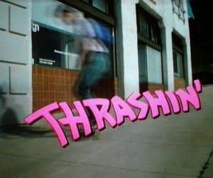 thrashin, pink, and skate image