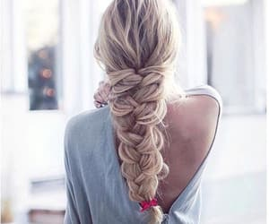 blonde, braid, and long image