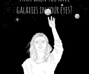 quotes, black and white, and galaxy image
