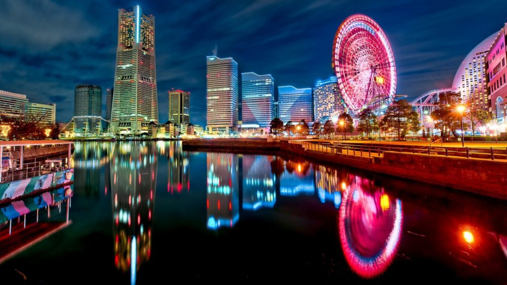 city, japan, and night image
