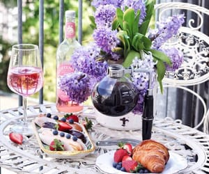 flowers, food, and lilac image