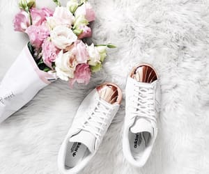 flowers, shoes, and adidas image