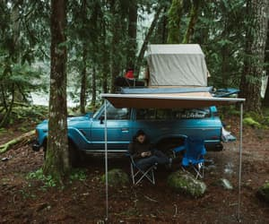 blue, camping, and forest image