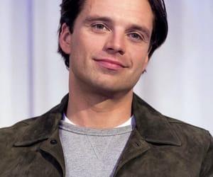 actor, sebastian stan, and smirk image