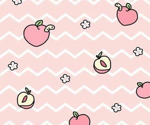peach, wallpaper, and kawaii image