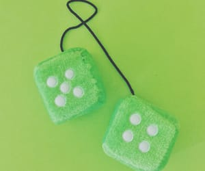 dice, games, and green image
