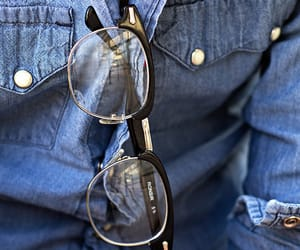 button up, masculine, and glasses image