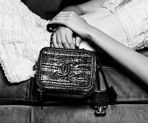 bag, black and white, and luxury image
