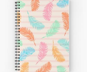feathers, girly, and notebook image