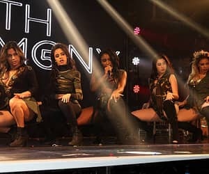 Ally Brooke Camila Cabello Normani Kordei Lauren Jauregui and Dinah Jane Hansen of Fifth Harmony perform at GAY on April 10 2016 in London England