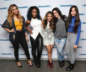Dinah Jane Hansen Normani Hamilton Ally Brooke Lauren Jauregui and Camila Cabello of Fifth Harmony visit the SiriusXM Studios on November 5 2014 in...