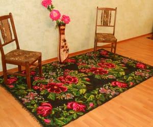 vintage rugs, floral kilim rugs, and aux roses kilim image