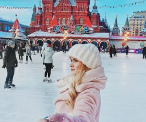 blond, Red Square, and Skiing image