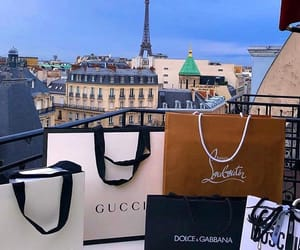 gucci, paris, and shopping image