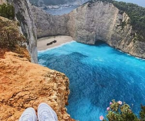 beach, Greece, and cool image