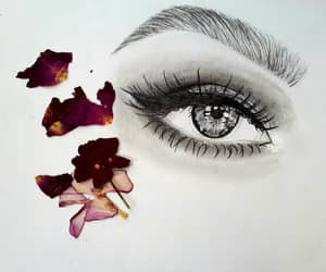 art, flower, and cizim image