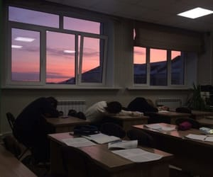 sky, pink, and school image