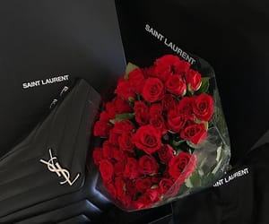 luxury, roses, and YSL image