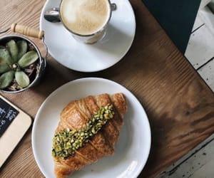 breakfast, brioche, and coffee image
