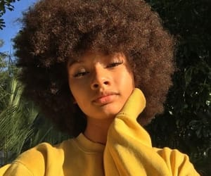 Afro, girl, and hair image