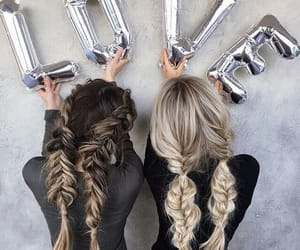 friends, hair, and braid image
