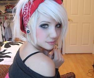 bandana, beauty, and girl image